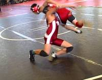 TK scrambles and gets the double leg takedown. Golden Gate Invitational. Dec. 12, 2009