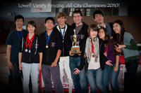 Repeat Champions the Lowell Fencing Team.