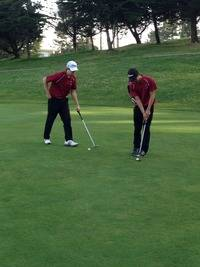 Sam Miller sinks the putt for Par.